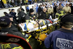 Man on stretcher