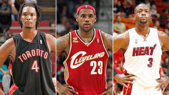 Dwayne Wade, LeBron James, Chris Bosh