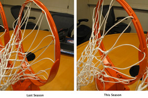 2008-09 and 2009-10 NBA basketball rims