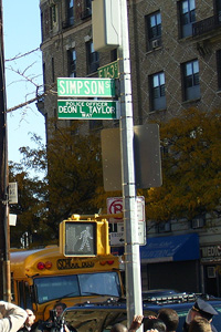 Deon Taylor street sign
