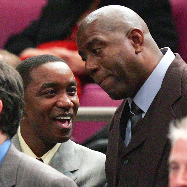 Magic Johnson reconciles with Isiah