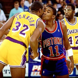 Magic Johnson and Isiah Thomas