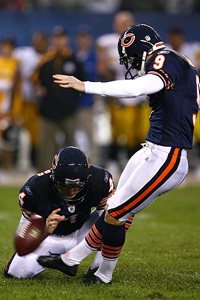 Jonathan Daniel/Getty Images Robbie Gould is 8-of-10 on field goals