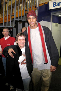 Evan Turner and Barbara Moll