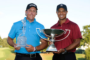 Phil Mickelson and Tiger Woods