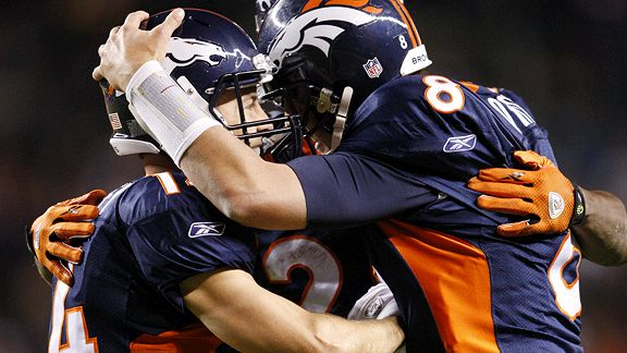 Kyle Orton and Brandon Stokley