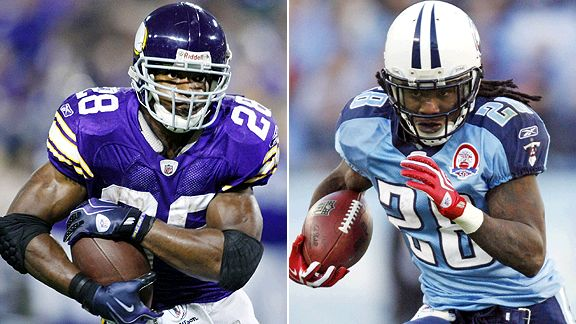Adrian Peterson and Chris Johnson