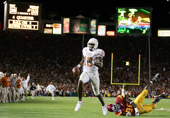 Image result for vince young texas vs usc