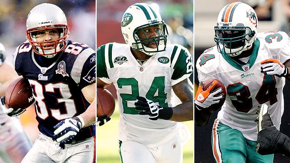 Wes Welker, Darrelle Revis & Ricky Williams