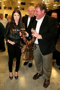 Danica Patrick and New Hampshire Motor Speedway president Jerry Gappens