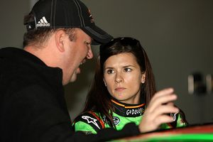 Danica Patrick and Tony Eury Jr.