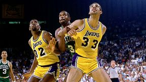 Magic Johnson and Kareem Abdul Jabbar