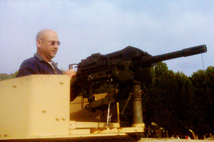 Terry Francona manning a tank