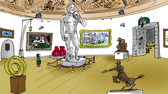 Alex Rodriguez has a painting of himself as a centaur ...
