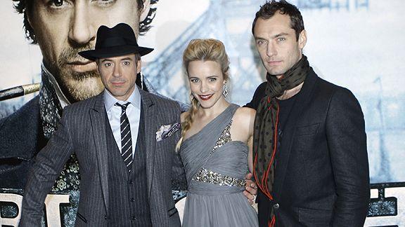 Robert Downey Jr, Rachel McAdams and Jude Law