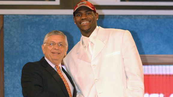 David Stern, LeBron James