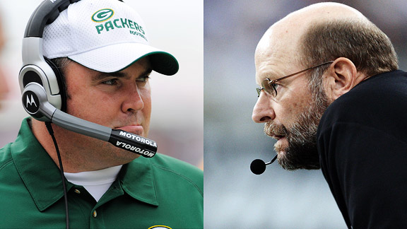 Mike McCarthy and Brad Childress