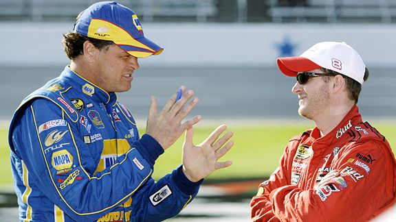 Michael Waltrip & Dale Earnhardt Jr.