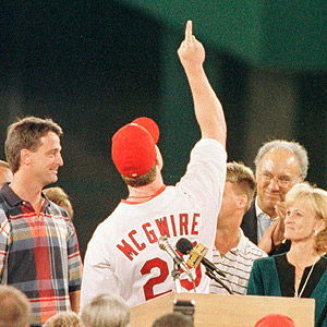 Mark McGwire and Maris family