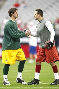 Aaron Rodgers and Kurt Warner