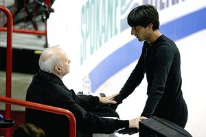 Evan Lysacek and Frank Carroll
