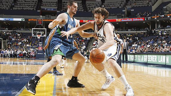Kevin Love and Marc Gasol