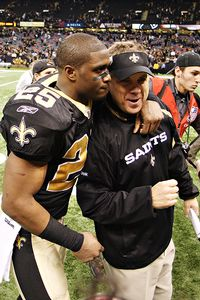 Reggie Bush and Sean Payton