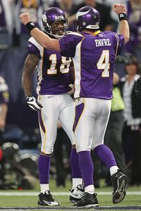 Brett Favre and Sidney Rice