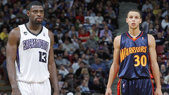 Tyreke Evans and Stephen Curry