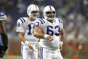 Jeff Saturday and Peyton Manning