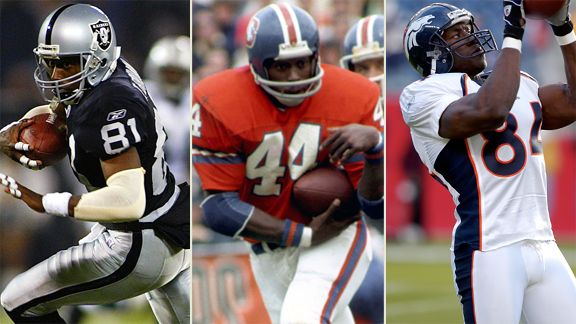 Tim Brown, Floyd Little, Shanon Sharpe