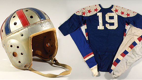 Norm Van Brocklin uniform, helmet
