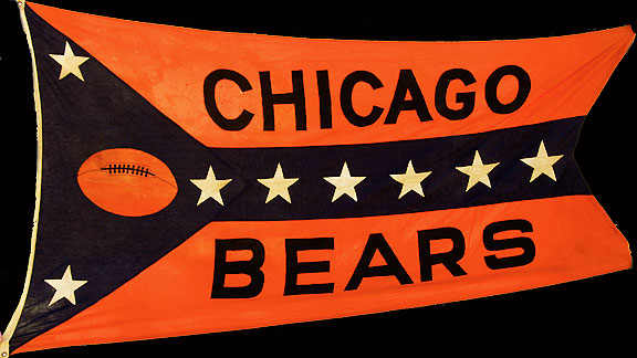 Chicago Bears stadium banner, circa 1930s