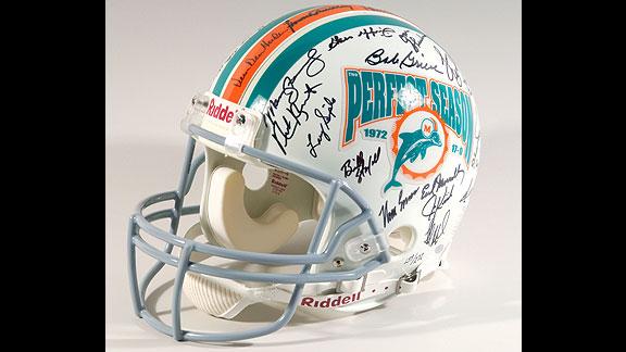 1972 Miami Dolphins autographed helmet
