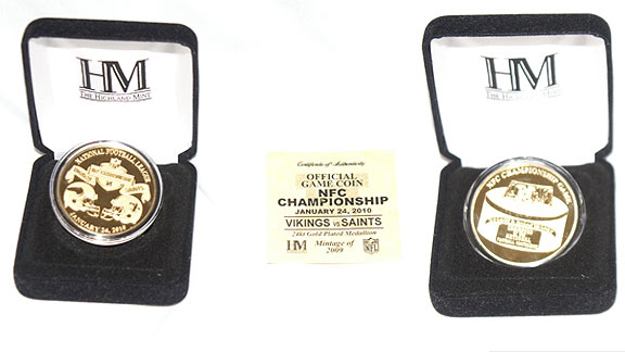 NFC championship game coin