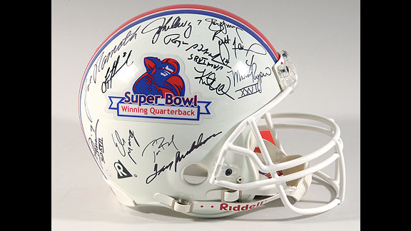 Super Bowl-winning QBs helmet