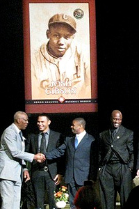 Mike Cameron at Negro Leagues Museum