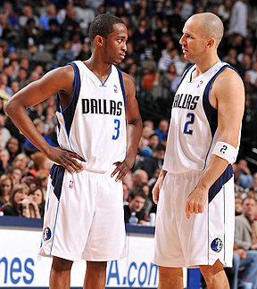 Rodrigue Beaubois and Jason Kidd