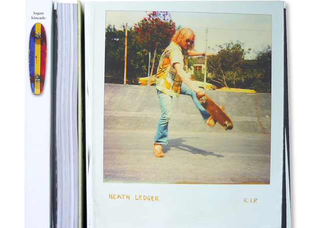 The cover and spine of the new Skatebook. This is the Logan Kincade issue.