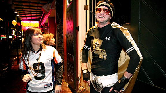 New Orleans Fans (saints undies) post-win, Super Bowl XLIV