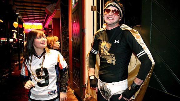 New Orleans Fans (saints undies) post-win, Super Bowl XLIV
