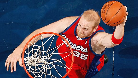 Chris Kaman with the Los Angeles Clippers