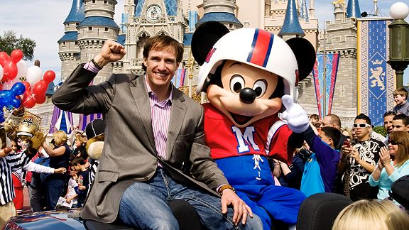 Super Bowl XLIV MVP Drew Brees & Mickey Mouse