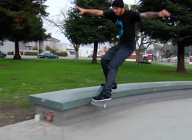 Peter Ramondetta mid Smith 180 out in his mini film shot by Dan Wolfe.