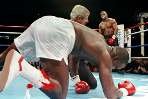 Mike Tyson and Buster Douglas