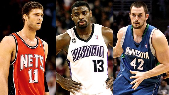 Brook Lopez, Tyreke Evans & Kevin Love