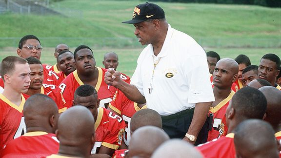 Eddie Robinson, coach of grambling State, at media day 1997