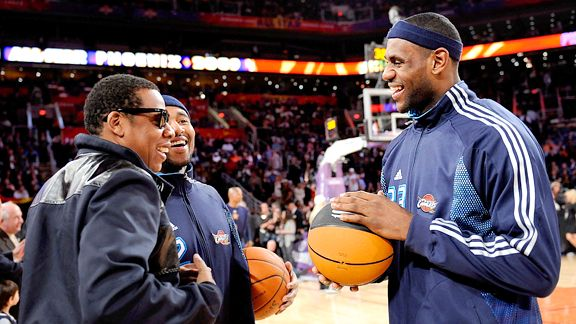 Jay-Z and LeBron James