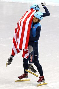 Apolo Anton Ohno and J.R. Celski