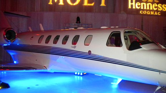 ... plane at Dirk Nowitzki and Jason Terrys party in an airplane hangar